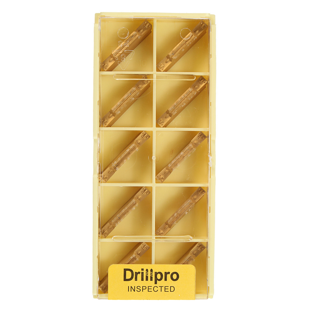 Drillpro 10pcs MGMN300-M Carbide Inserts 3mm Width for MGEHR/MGIVR Grooving Cut Off Tool Turning Tool