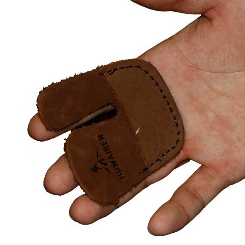 Archery Finger Guard Protector Cow Leather Finger Tab R