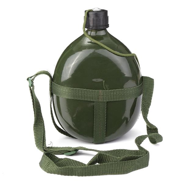 Image of 1.5L Militärkantine Aluminium Fahrrad Radfahren Military Wasser Cup Flasche