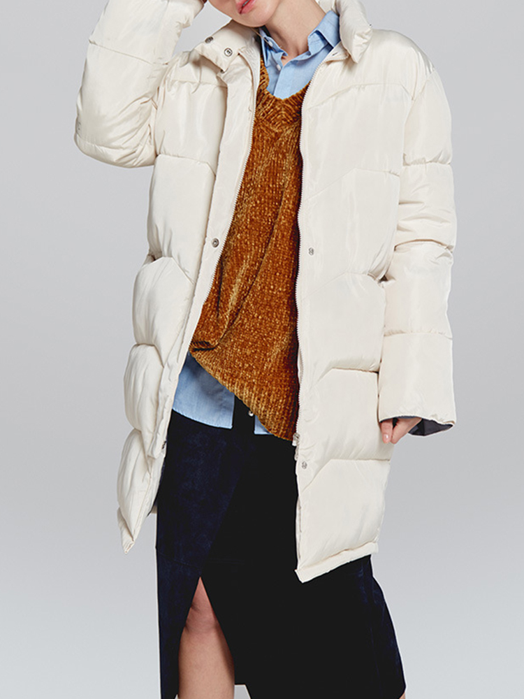 Women Winter Thick Long Trench Coats with Pockets