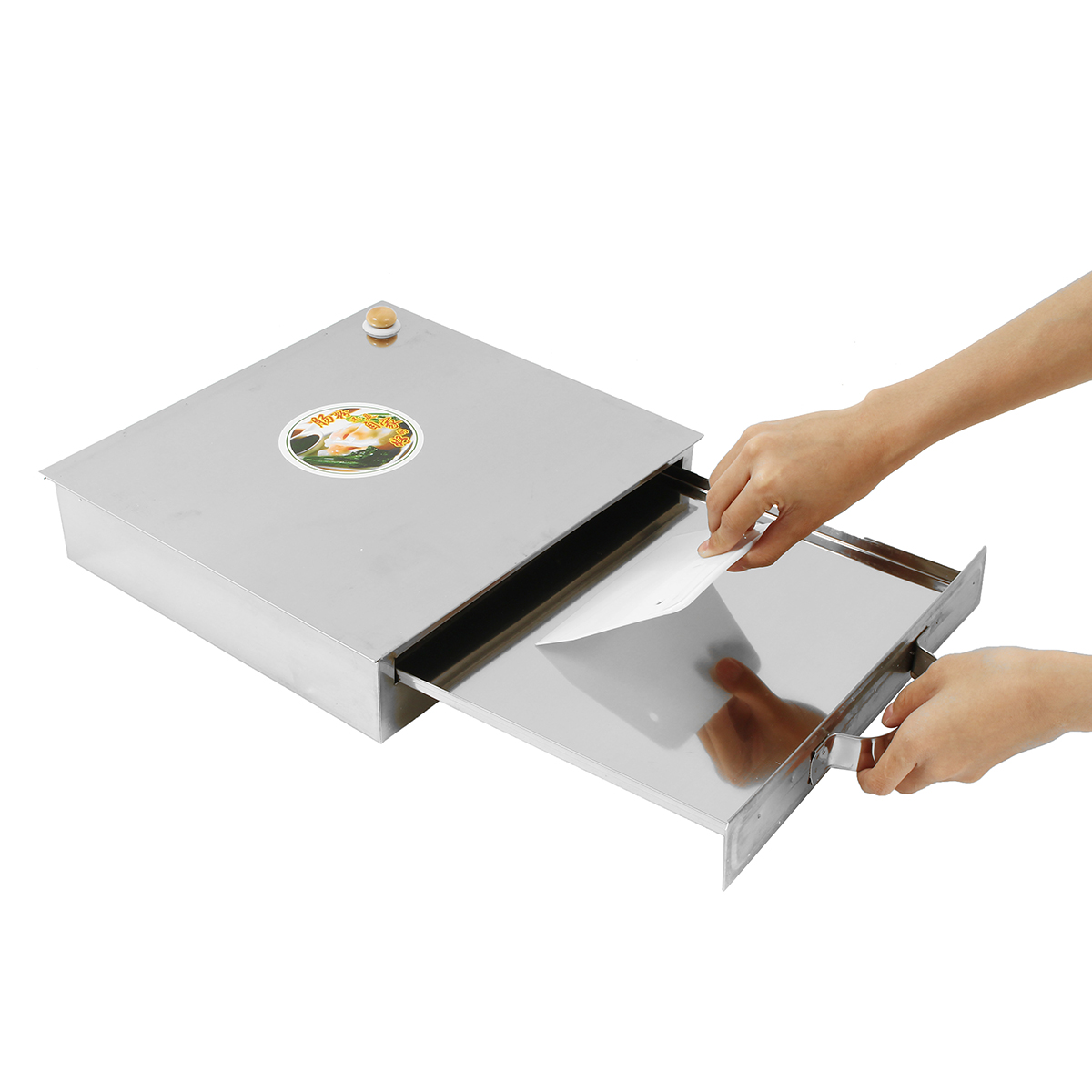 Stainless Steel Tray 1 Layer Steamed Vermicelli Rice Roll Machine Kitchen Cooking Steamer Drawer