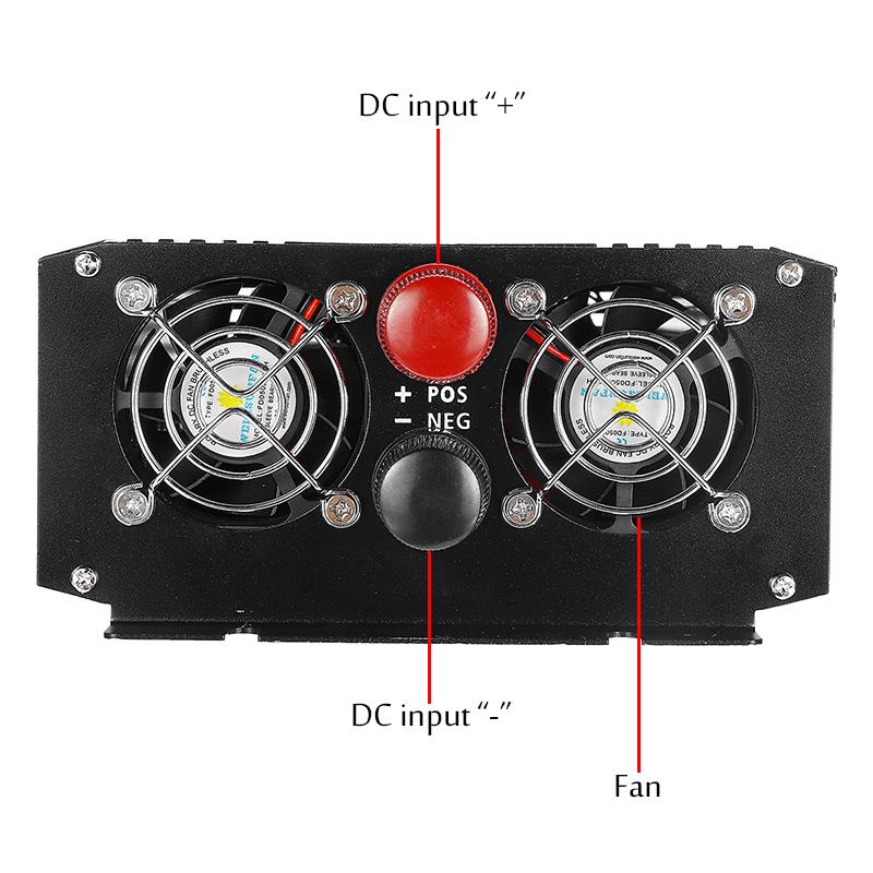 Intelligent Display Power Inverter DC 12V To AC 220V Pure Sine Wave 3000W/4000W Inverter