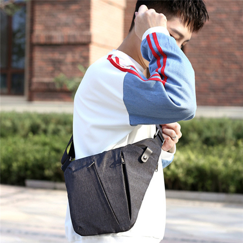 Men Sling Oxford Chest Bag Shoulder Messenger Crossbody Travel Pack Left Right