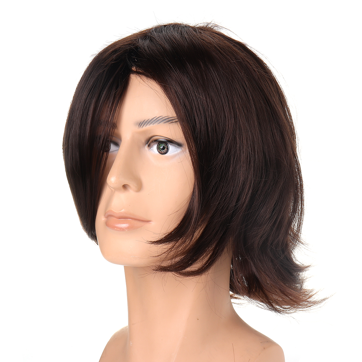 Men Short Cosplay Ancient Costume High-temperature Fiber Wig