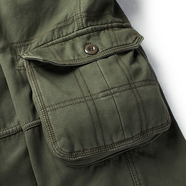 Mens Winter Warm Thick Cargo Pants Multi Pockets Casual Outdoor Quality Pants