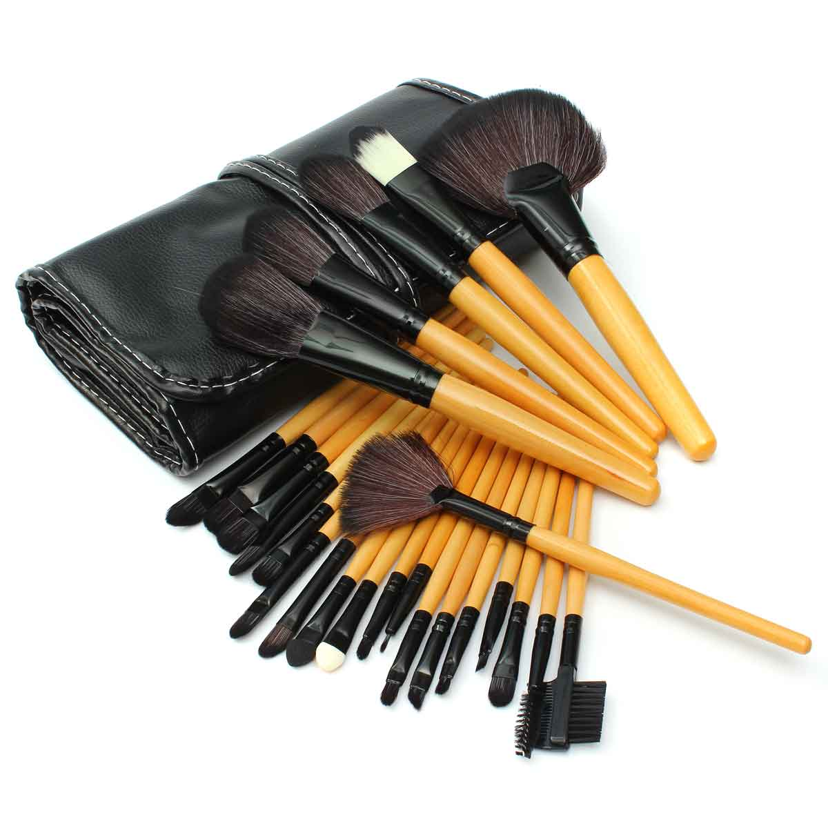 24pcs Makeup Brushes Set Powder Eyeshadow Eyeliner Lip Cosmetic Tool Eyebrow Foundation Liquid