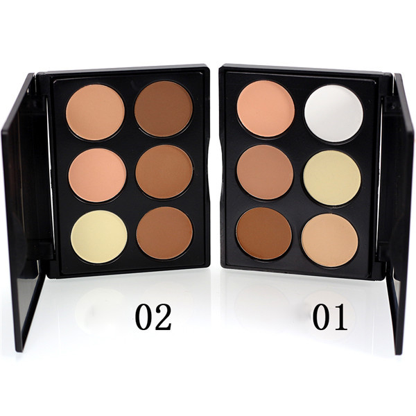 Portable 6 Colors Shading Powder High Light Shadow Shape Makeup Cosmetic V-face