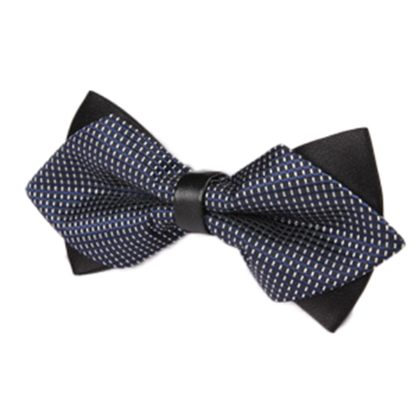 Men Stripes Business Wedding Bow Tie