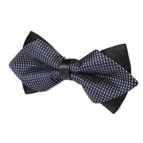 Men Stripes Business Wedding Bow Tie