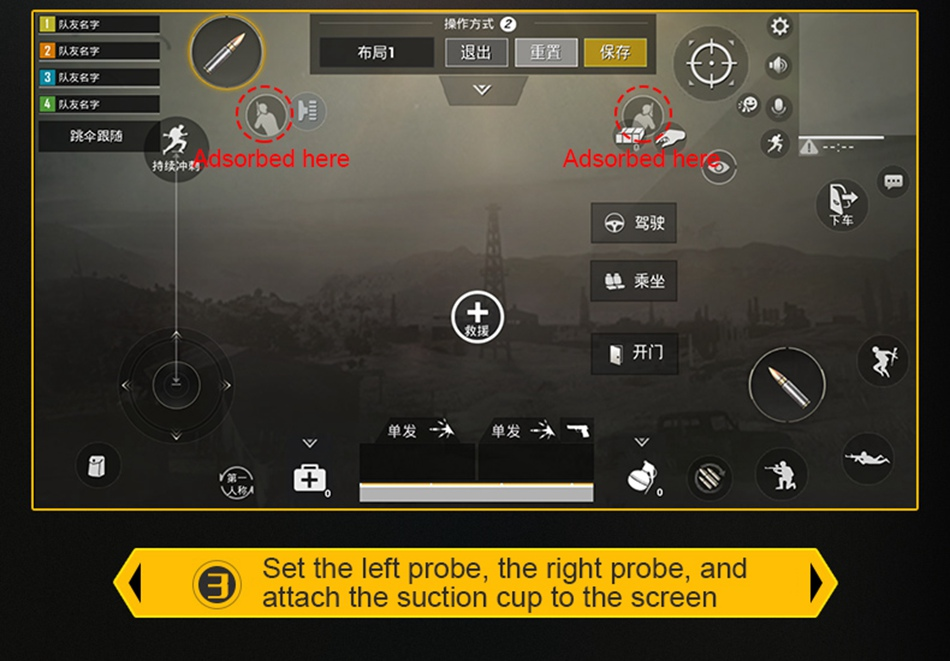 Mobile Game Controller Gamepad Trigger Aim Button L1R1 Shooter Joystick For IPhone IOS Android Phone