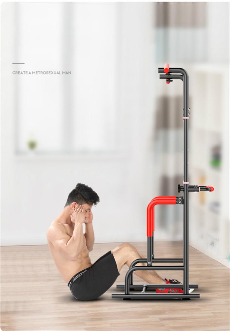 Indoor Horizontal Bar Adjustable Height Multi-functional Pull-ups Station Fitness Slimming Equipment