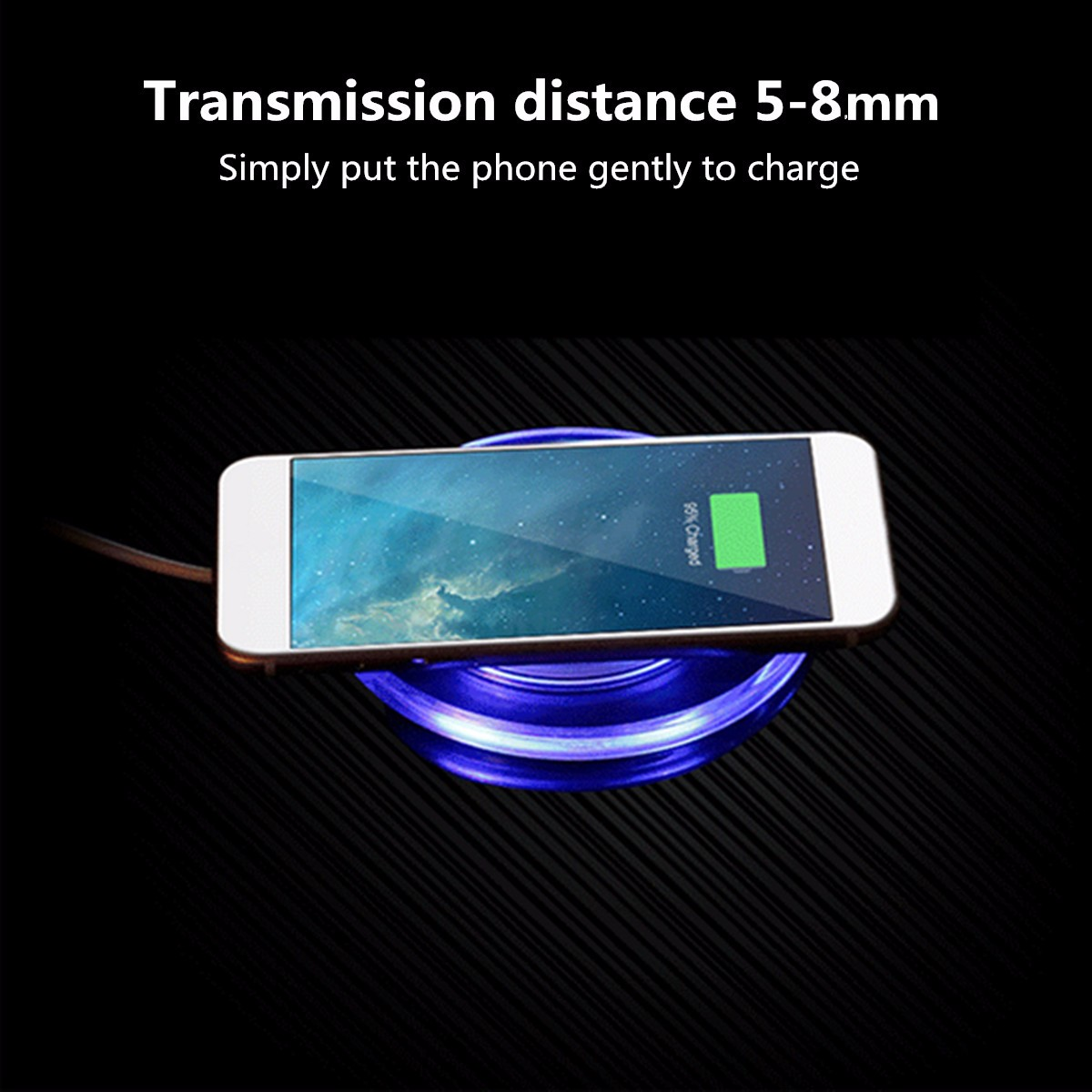 Qi Wireless Fast Charger Charging Pad Plate For Samsung Galaxy S6 S7 edge+ Note 5