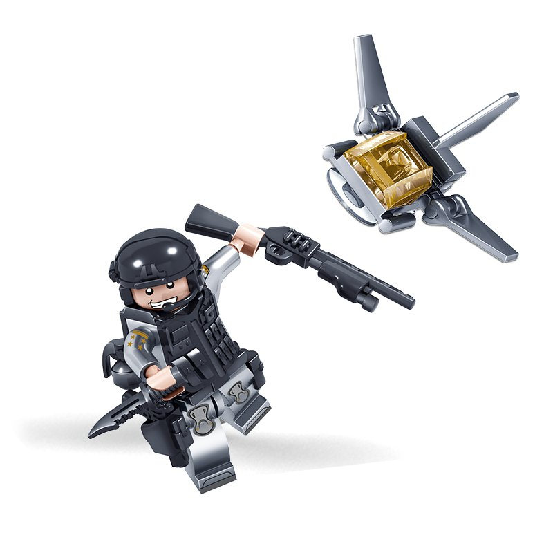 KAZI Building Block Phantom Police Team 82019#1-9 Educational Gift Fidget Toys 279Pcs