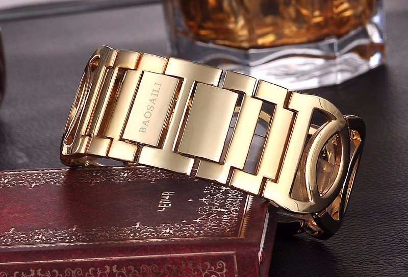 BAOSAILI BSL089 Fashion Luxury Crystal Gold Wrist Watches