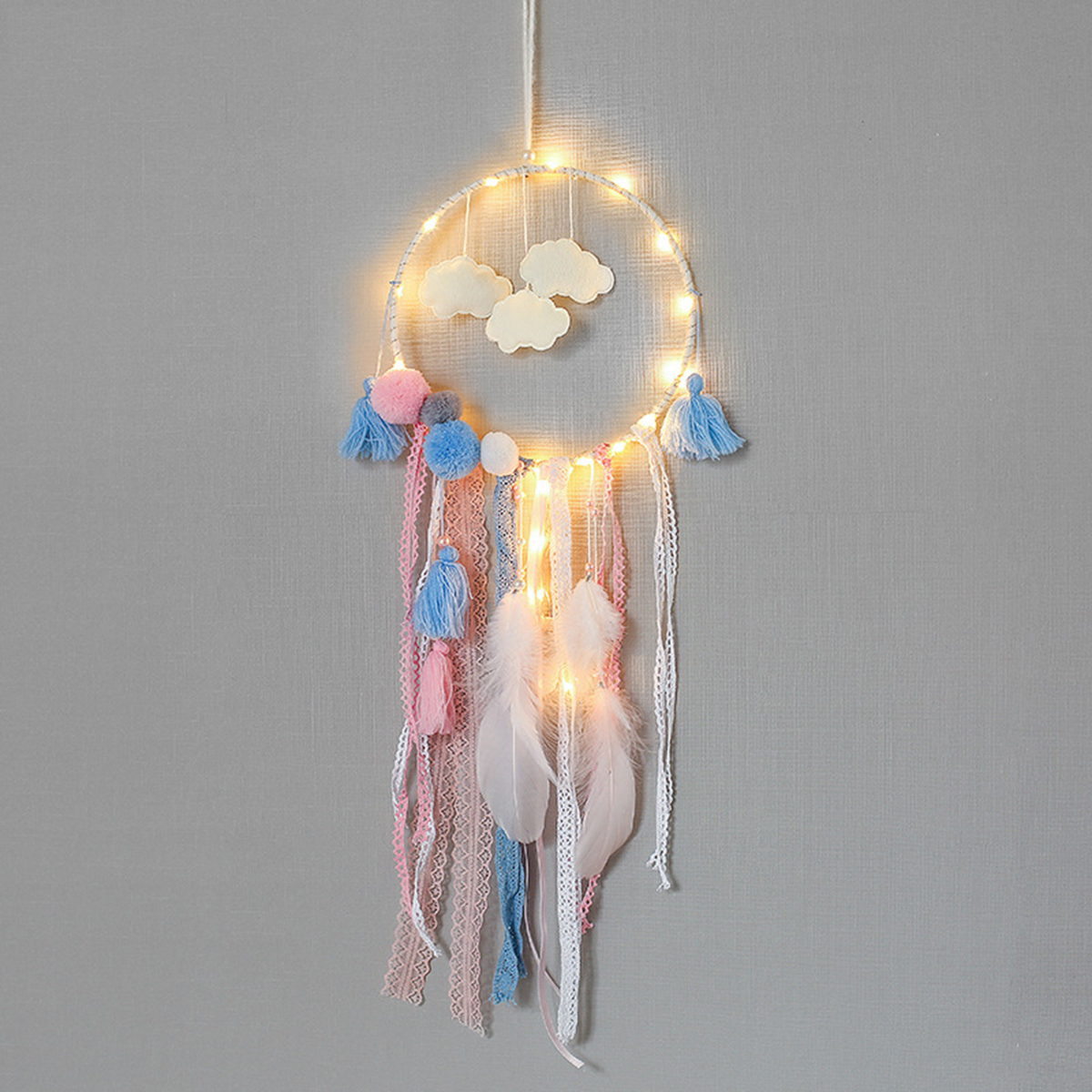 Lighting LED Dreamcatcher Feather Pendant Dream Catcher House Decor Accessary Light