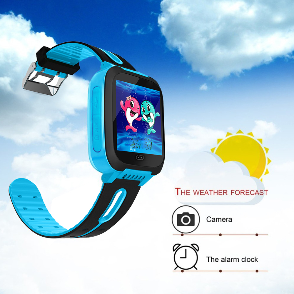 Bakeey W20 Touch Screen SOS Call GPRS Location Device Tracker Flashlight Camera Children Smart Watch
