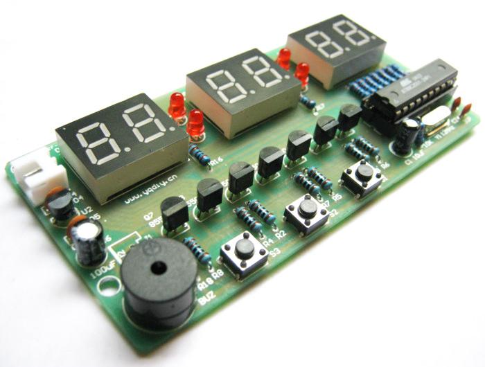 3Pcs 7-12V Six LED Digital DIY Clock Kit Electronic Learning Teaching Project