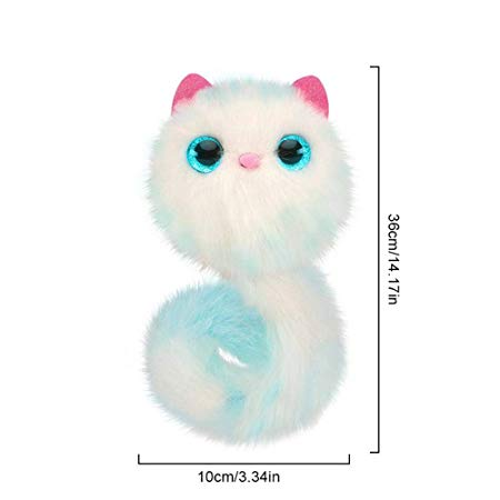 DIY Furry Cat Bath Dog Fox Stuffed Plush Toy Electronic Pet Funny Tail Doll Christmas Gift