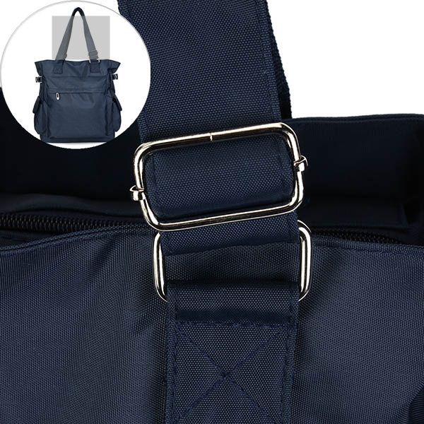 Women Light Weight Waterproof Nylon Handbag Large Capacity Tote Multi Pocket Shoulder Bag Mummy Bag