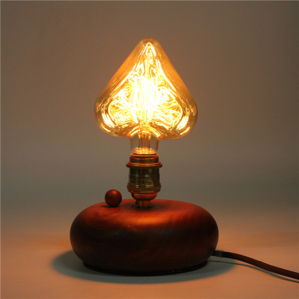 Kingso 220V E27 40W Edison Incandescent Filament Light Retro Vintage Lamp Star/Heart Shape Bulb