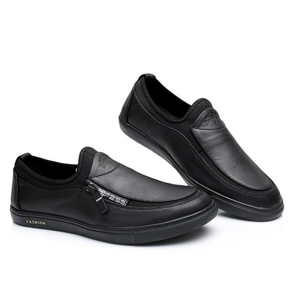 Men Comfortable Leather Soft Sneakers