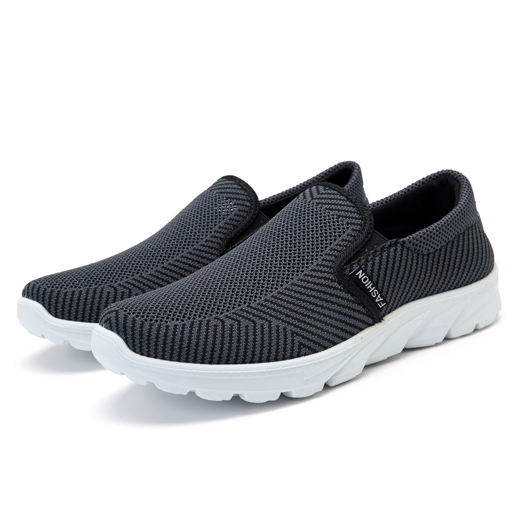 Men Casual Sports Shoes Breathable Mesh Slip On Sneakers