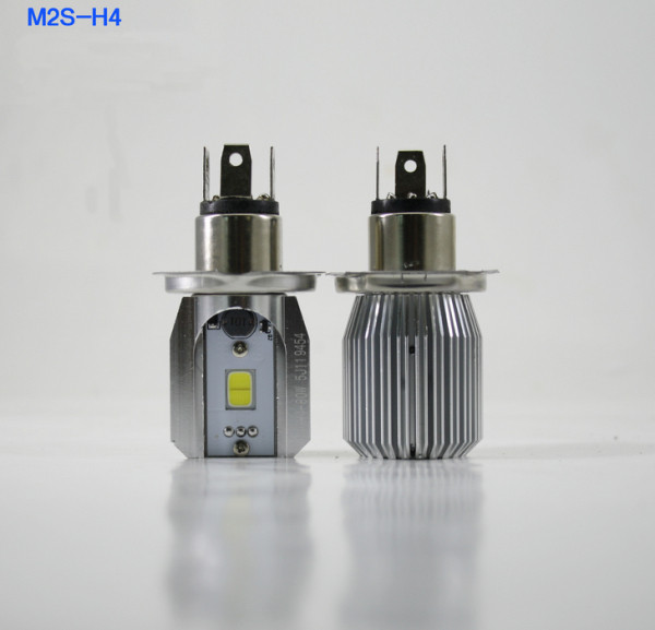 16W Motorcycle LED Headlight M2S COB H4 Plug Super Bright Light Blub