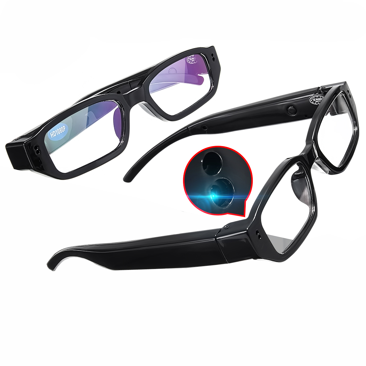 1080P HD Digital Video Hidden Camera Glasses Recorder C