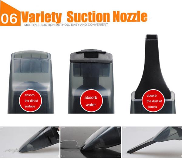 12V 100W Portable Handheld Car Wet&Dry Vacuum Cleaner Caravan Hoover