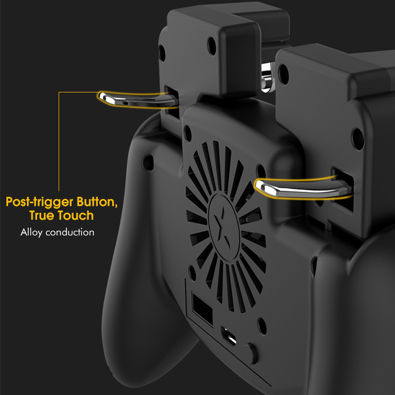 3 in 1 Mobile Gaming Gamepad Joystick Cooler Game Controller Handle With 2000/4000mAh Battery Phone Charger for 4.7-6.5 inch Smartphones