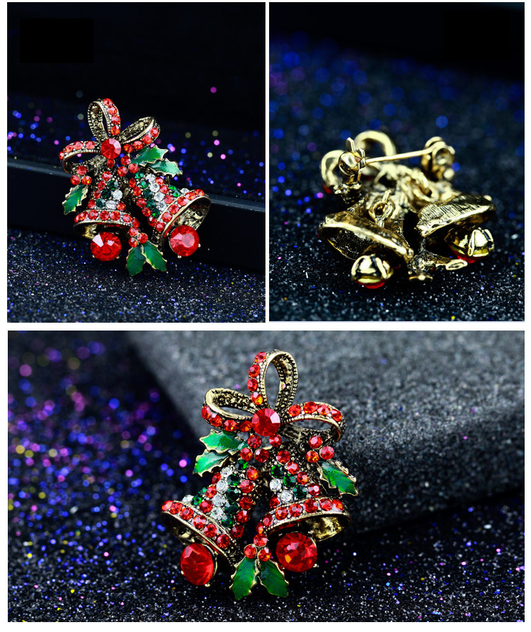 Fashion 2017 Christmas Gifts Brooches Rhinestone Brooch