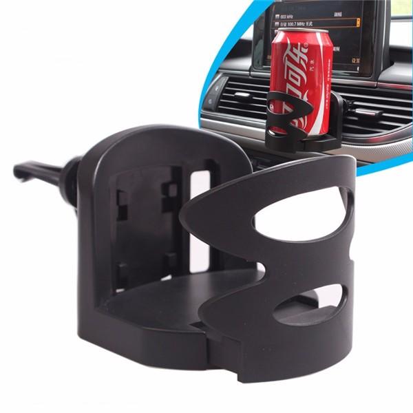 Car Outlet Drink Beverage Holder Stand Black for 57-72mm Bottle