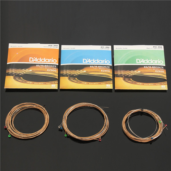 6 Pcs/Set Acoustic Guitar Strings Custom Extra Light Medium Light
