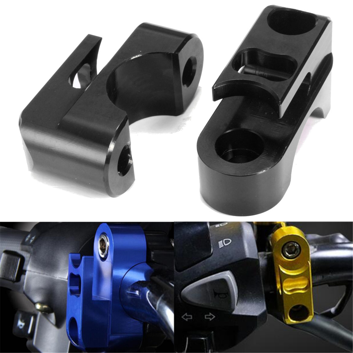 22mm 7/8inch Handlebar Luggage Bag Hanger CNC Hook Holder Clamp Universal