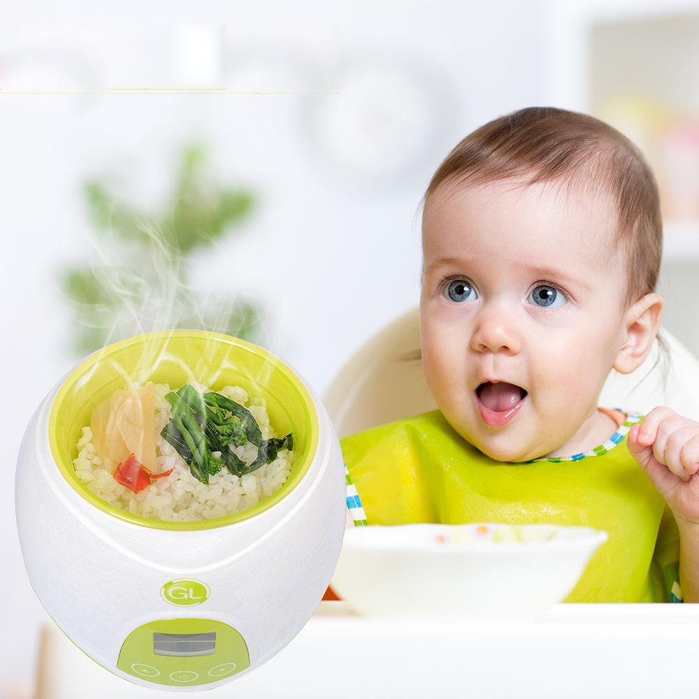 GL NQ-808 3 in 1 Multifunctional Baby Milk Bottle & Food Warmer Sterilizers LCD Display Intelligent Heating Insulation for Food Milk Heater