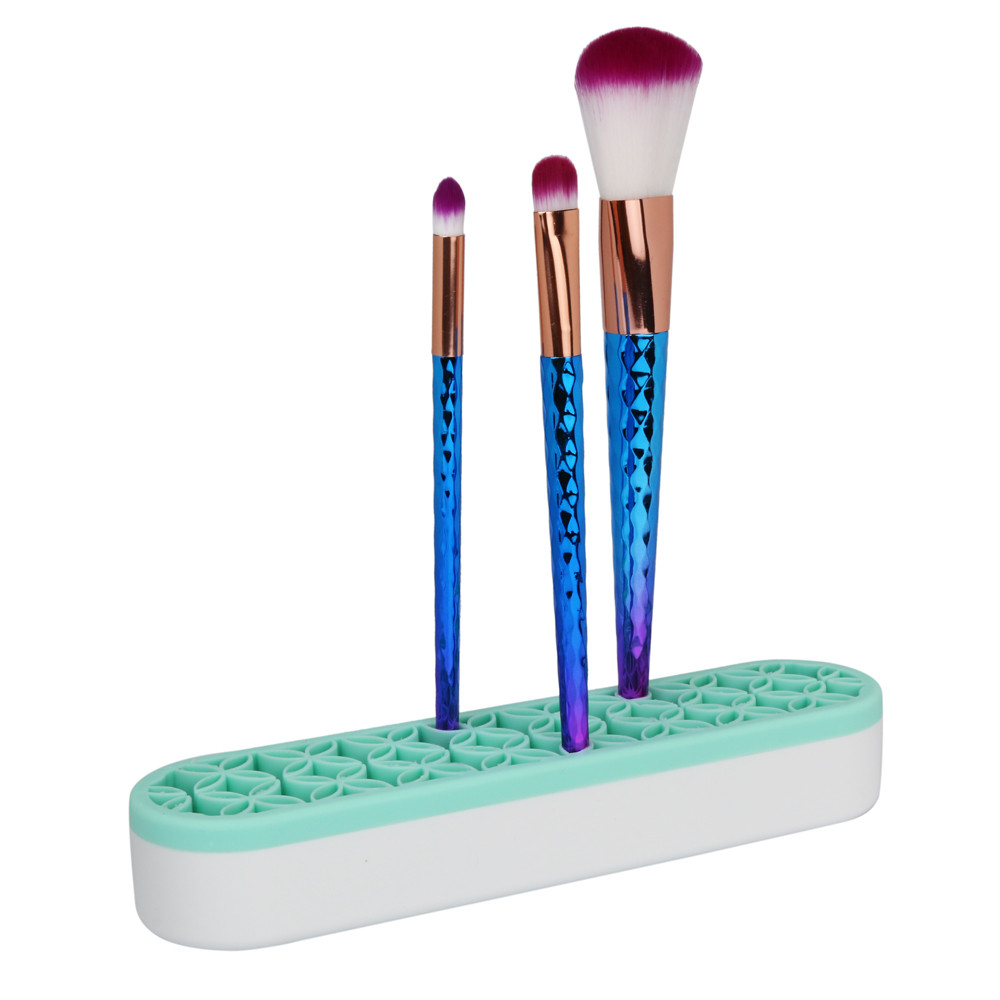 Silicone Makeup Brushes & Toothbrush Organizer