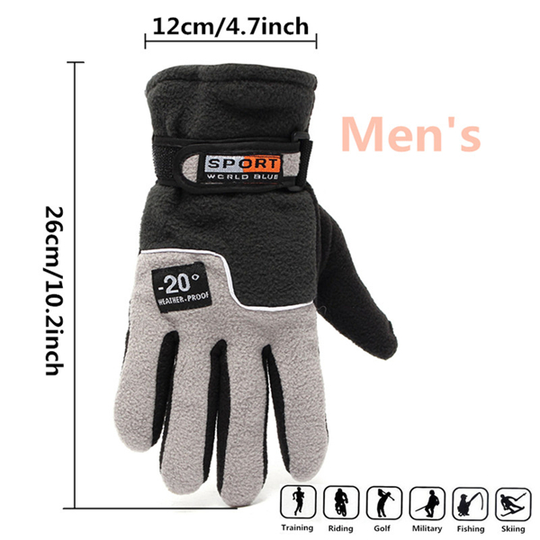 Windproof Winter Gloves Super Thick Warm Snowboard Ourdoor Sports Ski Motorcycle