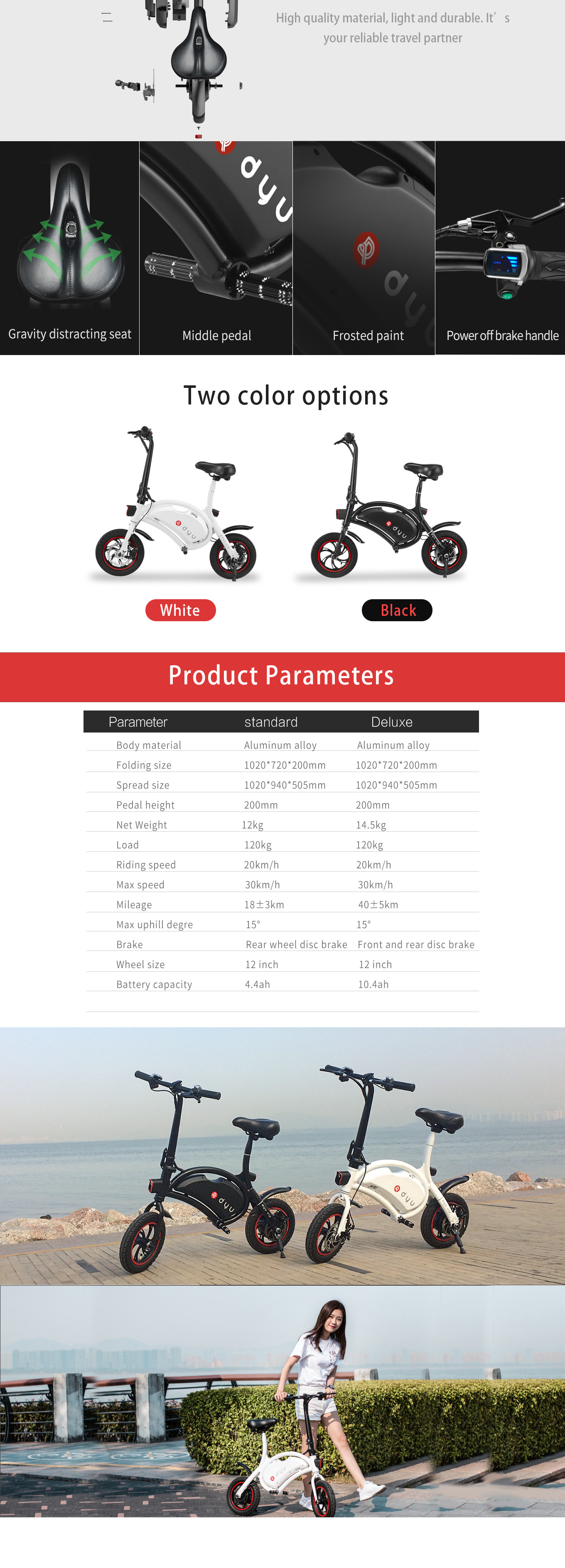 F-wheel Smart Electric Foldable Scooter Motorcycle 12inch Damping Tire 20KM/H