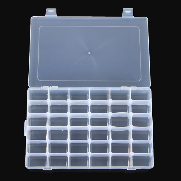 36 Compartment Clear Organizer Storage Craft Bead Parts Plastic Box Container