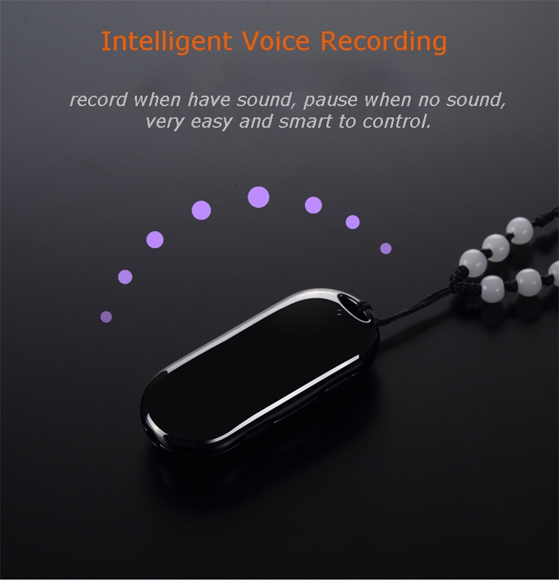 JNN M5 8G Mini Professional High Definition Pendant Voice Recorder Up to 38 Hours