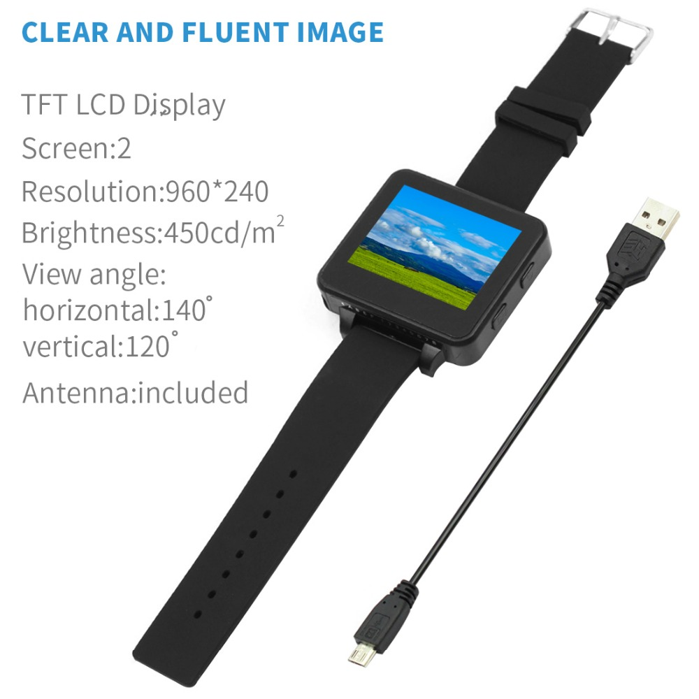 "200RC FPV Wearable Watch 2"" LCD 5.8G 40Ch FPV Monitor Wireless Receiver Watch LCD Display for FPV RC Drone - Photo: 4"