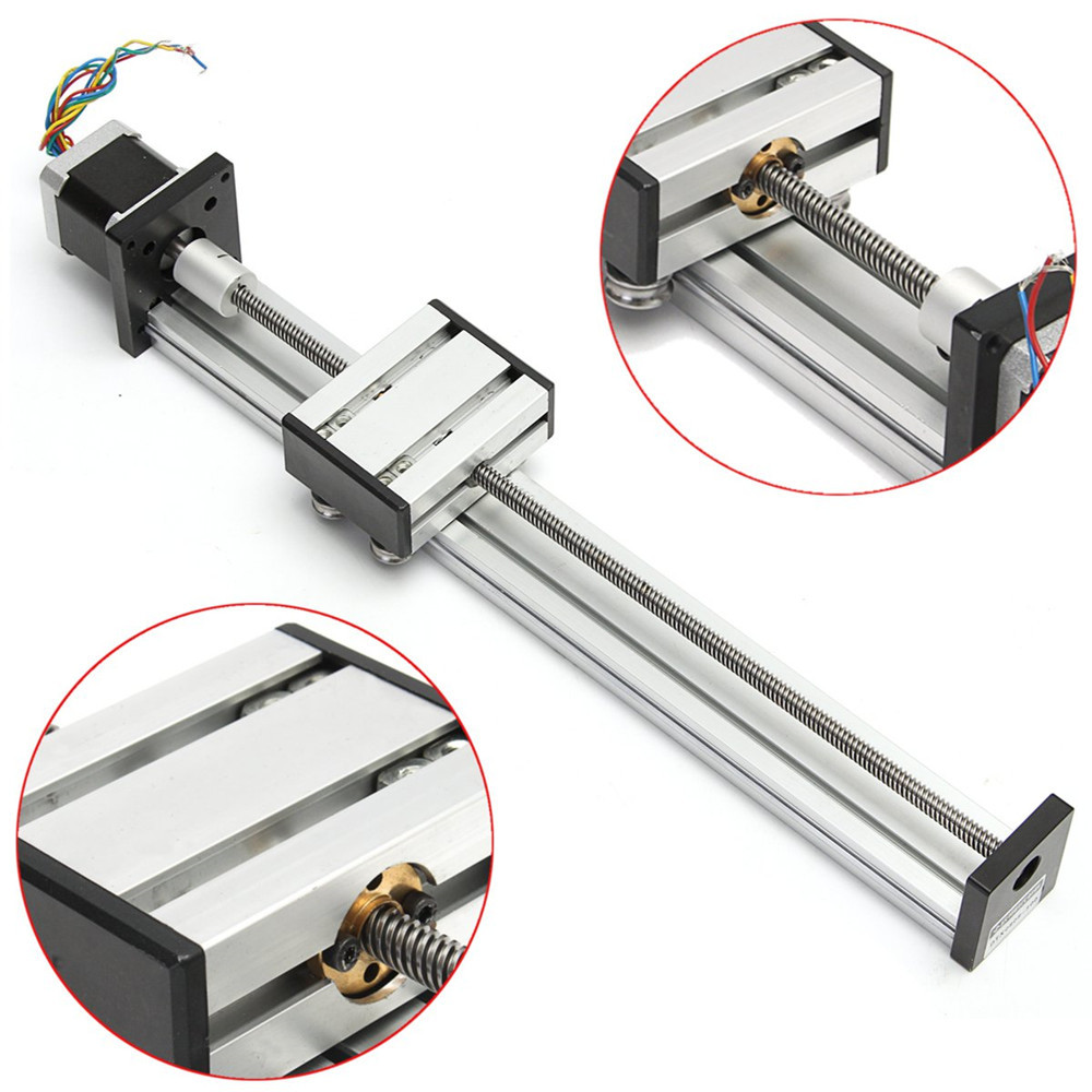 300mm Stroke Linear Actuator CNC Lead Screw Linear Slide Rail Guide with 42 Stepper Motor