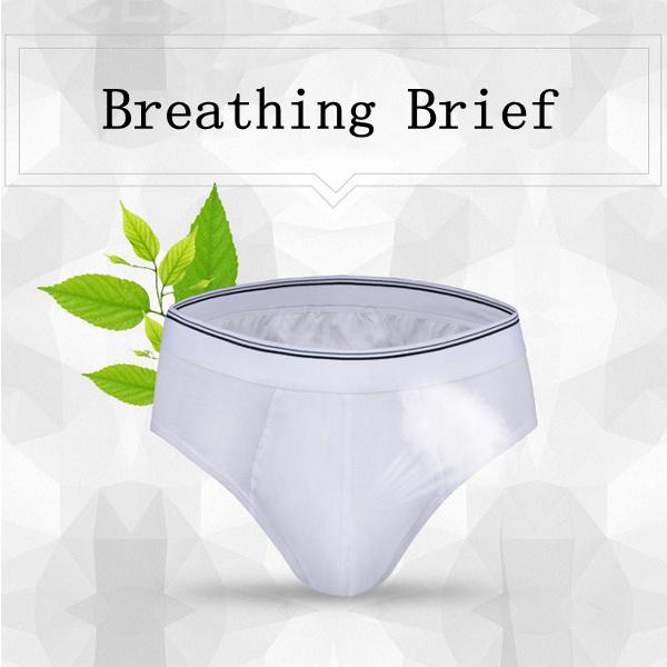 Mens Pure Color Cotton Comfortable Breathable Antibacterial U Convex Pouch Sexy Briefs Underwear