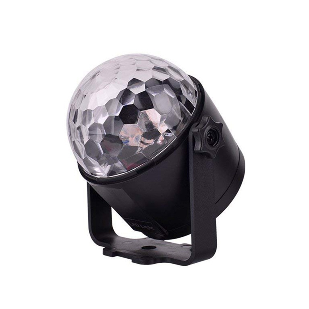 7W RGBYW Voice Activated Remote Control LED Crystal Magic Ball Stage Light for Bar Show AC100-240V