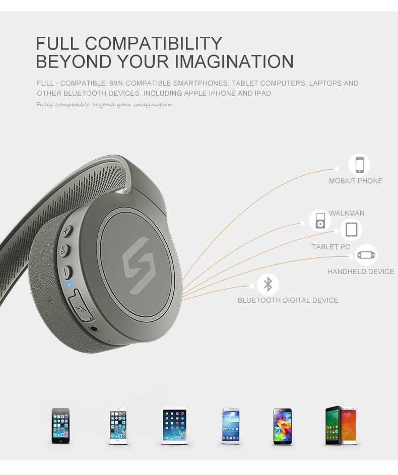New CSR Headphone Heavy Bass Surround Stereo Sport HiFi AUX Line-in Wireless AptX bluetooth Headset