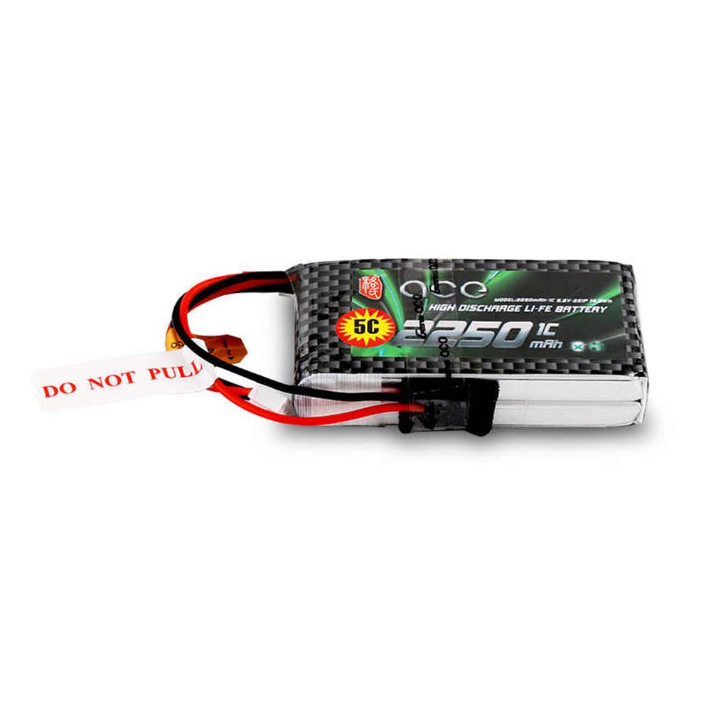 ACE 6.6V 2250mAh 5C Li-FE Battery 2S1P for Futaba 118SZ 14SG T10J T8J T6J 4PKS 4PL Radio Transmitter