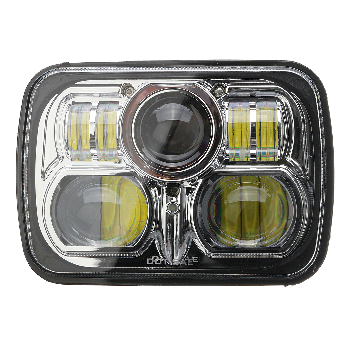 5.7inch x 7inch LED Projector Headlight Hi/Lo Beam Fog Lamp For Jeep/Wrangler YJ JK