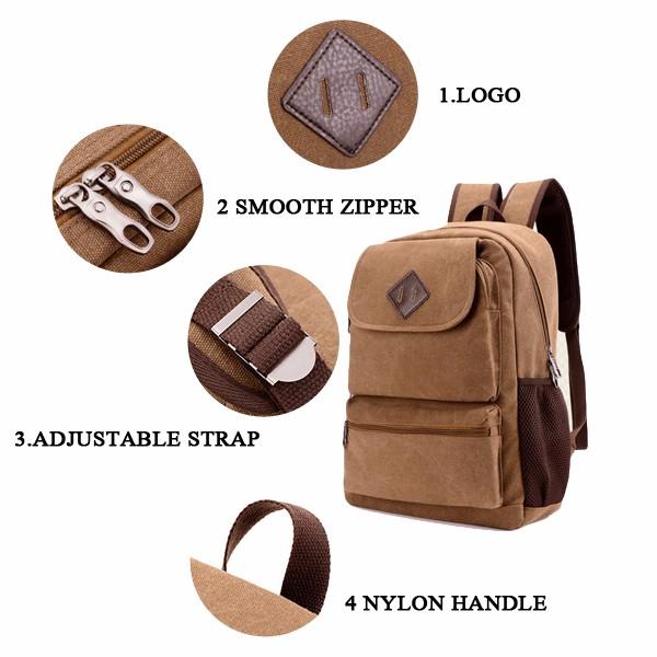 Large Capacity Men Women Laptop Casual School Travel Backpack