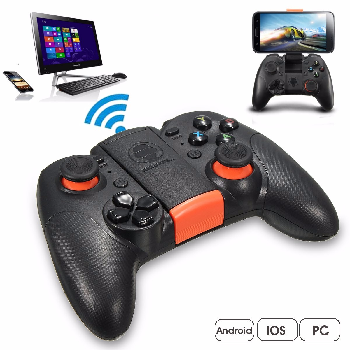 bluetooth 4.0 Wireless Game Controller Gamepad Joystick for Android iOS PC