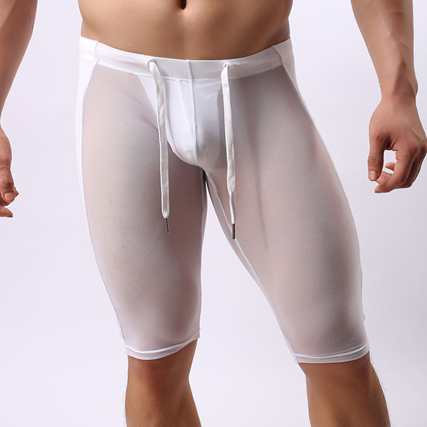 Mens Sexy Transparent Super Thin Sport Shorts Underwear